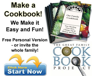 Make a personal cookbook - We make it fun and easy!