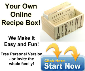 Create your own online recipe box - We make it easy!