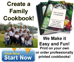 Create a family cookbook - We make it easy and fun!